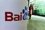 Devant le stand Baidu à la Chine (ShangHai) International Technology Fair à Shanghai. Le chef du géant chinois de la recherche Baidu a été convoqué par les autorités du paysen mai 2016, alors que la firme faisait face à un barrage de critiques sur la mort d'un étudiant qui l'a utilisé pour rechercher un traitement contre le cancer.