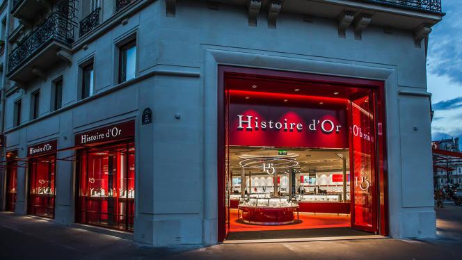 Le magasin Histoire d'or, rue de Rivoli à Paris.