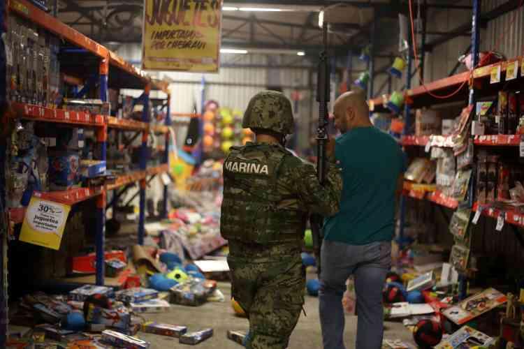 Le 4 janvier, des grands magasins ont été pillés dans trois villes mexicaines, et 135personnes ont été arrêtées. Ici,à Veracruz, sur la côte du golfe du Mexique.