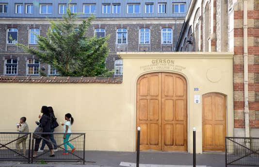 L'école Gerson, un établissement catholique situé dans le 16e arrondissement de Paris, le 15 avril 2014.