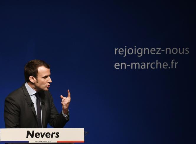 Emmanuel Macron, le 6 janvier à Nevers.