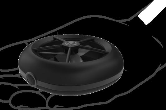 Le drone-galette Cleo ne dépasse pas 92 mm de diamètre.