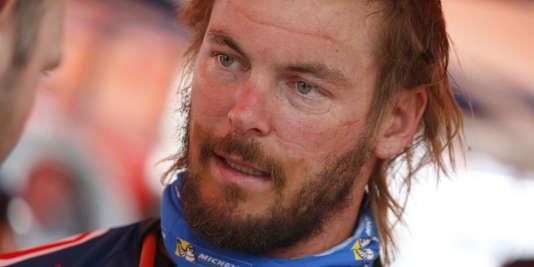 Toby Price, victime d'une fracture du fémur, le vainqueur moto de 2016, quitte le Dakar à l'issue de la 4eétape, jeudi5janvier.