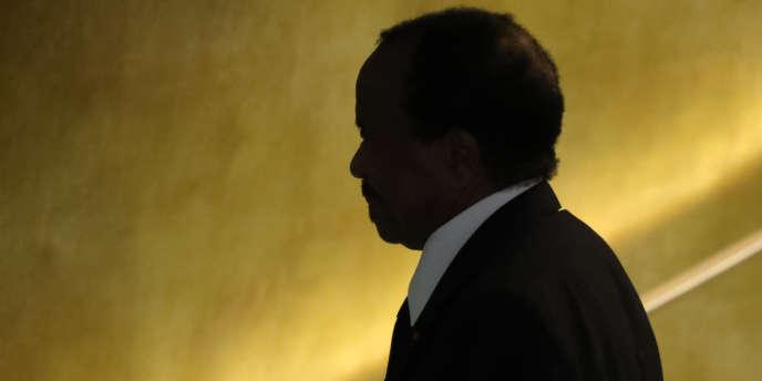 Le président camerounais Paul Biya à la trribune des Nations unies à New York le 22 septembre 2016.