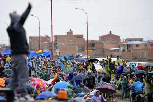 A l'arrivée de la cinquième étape, à Oruro en Bolivia, le 6 janvier.