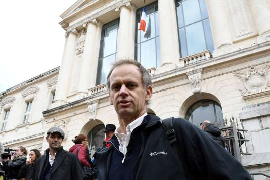 Pierre-Alain Mannoni à son arrivée au tribunal de Nice en novembre 2016.