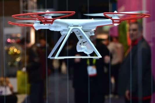 Le Mi Drone de Xiaomi en pleine démonstration le 6 janvier au Consumer Electronic Show (CES)