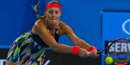 Kristina Mladenovic samedi 7 janvier à Perth.