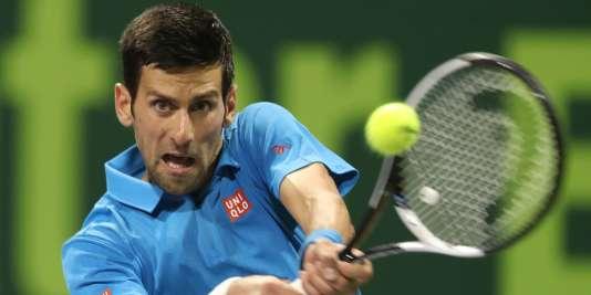 Novak Djokovic le 7 janvier à Doha.