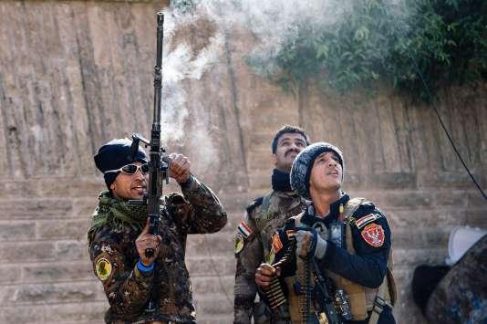 Les forces spéciales irakiennes dans Mossoul.