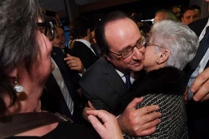 Francois Hollande à Tulle (Corrèze) le 7 janvier.