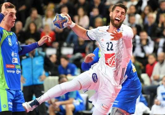 Luka Karabatic face à la Slovénie, dimanche 8 janvier à Montpellier.