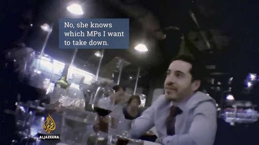 Shai Masot dans la vidéo.