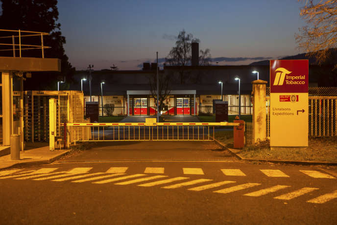 L'usine de production de cigarettes de la Seita, à Riom (Puy-de-Dôme) en novembre 2016.