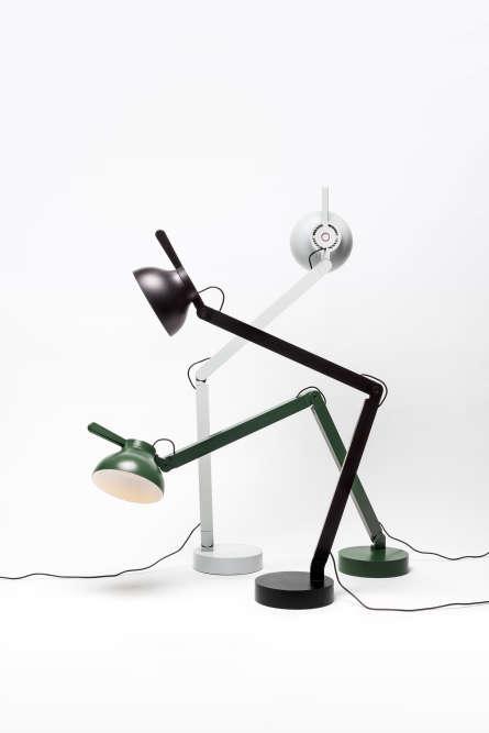 PC lamp ou Lampe de bureau en aluminium, métal et silicone, éditée par Wrong-London, 2016.