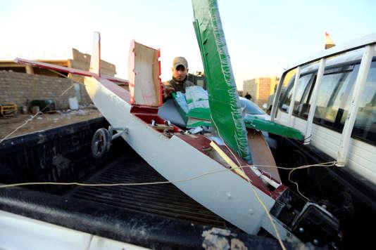Un drone appartenant à l'organisation Etat islamique à l'est de Mossoul le 4 janvier.