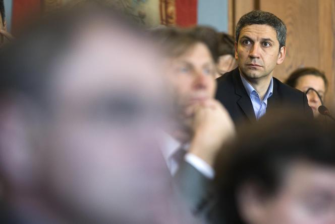 Christophe Najdovski, adjoint à la mairie de Paris chargé des transports, le 5 avril 2014.
