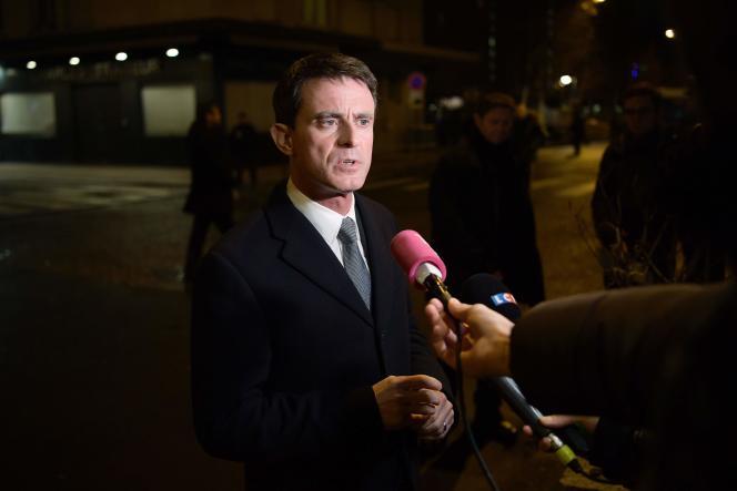 Manuel Valls à Paris le 9 janvier.