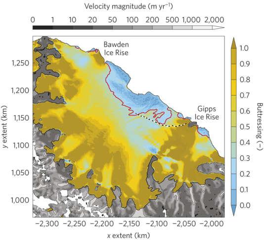 La barrière Larsen C est composé de 10,6% de glace «passive» selon une étude publiée en 2016. Les 5 000 km² menacés de se détacher enlèveraient une grande partie de cette glace passive, rendant la barrière très vulnérable.