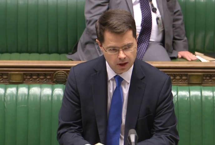 Le secrétaire d'Etat chargéde l'Irlande du Nord, l'Anglais James Brokenshire.