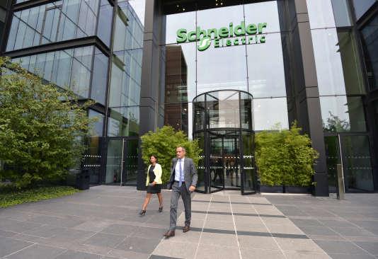 Jean-Pascal Tricoire, le PDG de Schneider Electric au siège du groupe, à Paris.