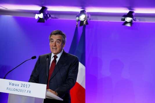 François Fillon à Paris le 10 janvier.