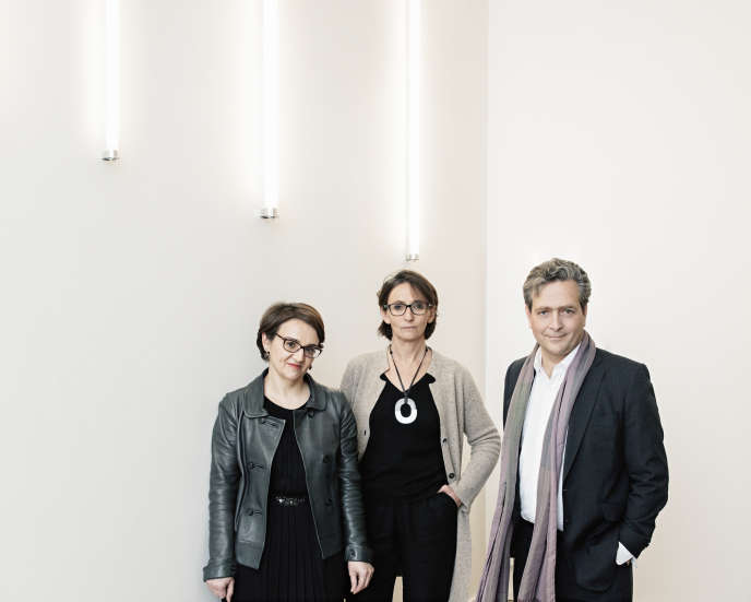 De gauche à droite : Michelle Bubenicek, Laurence Engel et Eric de Chassey.