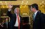 Donald Trump et Jack Ma, patron d'Alibaba, le 9 janvier à New York.