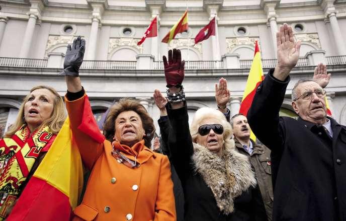 Commémoration de la mort du dictateur,en novembre 2015,à Madrid.