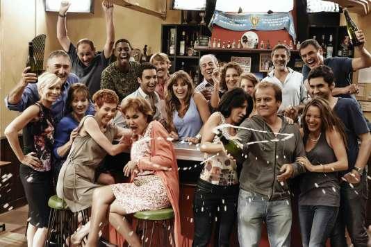 """La troupe du feuilleton de France 3 """"Plus belle la vie"""""""