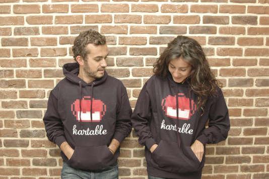 Julien Cohen-Solal etSarah Besnaïnou, fondateurs de la start-up Kartable.
