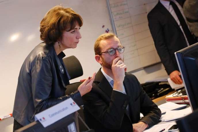La ministre de la santé Marisol Touraine s'est rendue le 11 janvier au Centre opérationnel de réception et de régulation des urgences sanitaires et sociales à Paris.