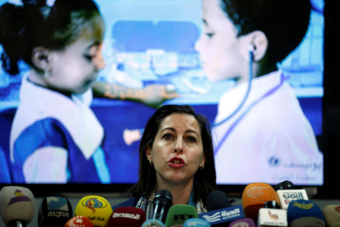 La représentante de l'Unicef à Sanaa, la capitale du Yémen.