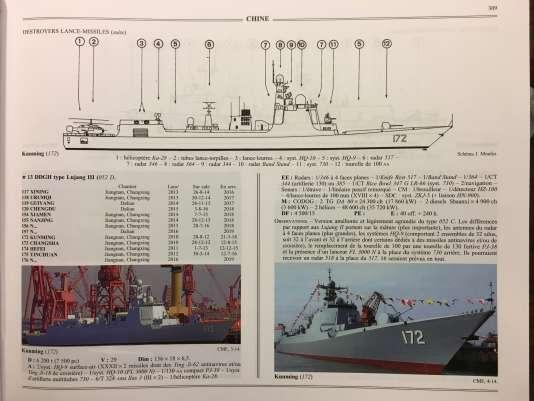 Une planche du livre« Flottes de combat» consacrée à la marine de guerre chinoise.