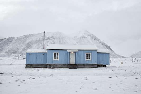 Une vieille station radio àNy-Alesund Svalbard, en Norvège.
