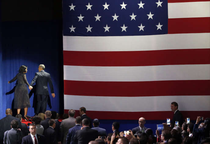 Barack et Michelle Obama, à la fin du dernier discours présidentiel, le 10 janvier.