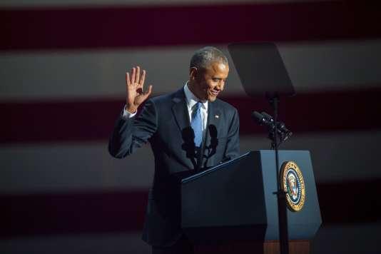 Discours d'adieu de Barack Obama à Chicago mardi 10 janvier.