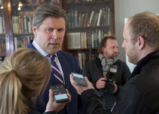 Le premier ministre Bjarni Benediktsson, alors ministre des finances, à Reykjavik, en avril 2016.