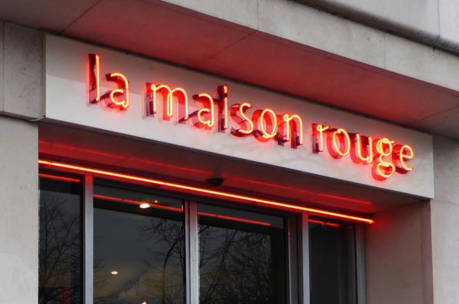 L'entrée de la Maison rouge, à Paris (12e).