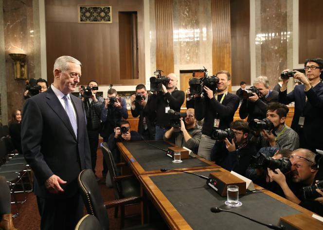James Mattis, le futur secrétaire américain à la défense, favorable au maintien de la ligne traditionnelle concernant la capitale israélienne, le 12 janvier au Sénat.