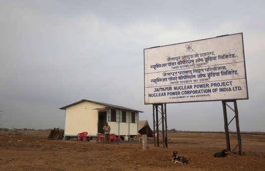 Sur le site de Jaitapur, dans le district de Ratnagiri, sur la côte ouest de l'Inde, choisi pour accueillir l'EDF d'EDF.