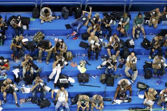 Une salle de presse aux JO de Rio en 2016.