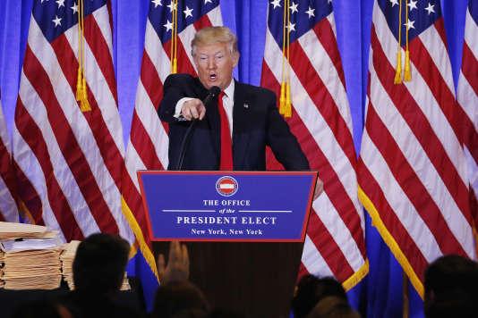 Donald Trump, le 11 janvier à New York.