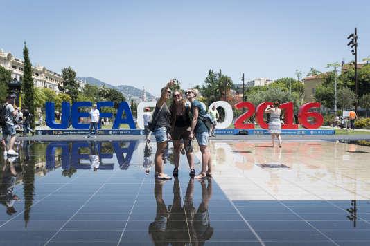 Pendant l'Euro 2016 à Nice, le 24 juin 2016 dans l'après-midi.