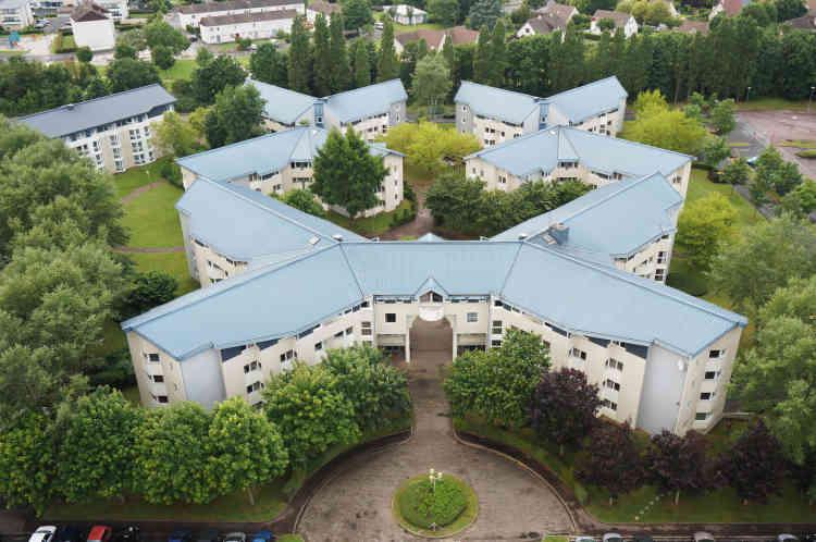 La résidence Edmond Bacot, située sur le campus II à Caen.
