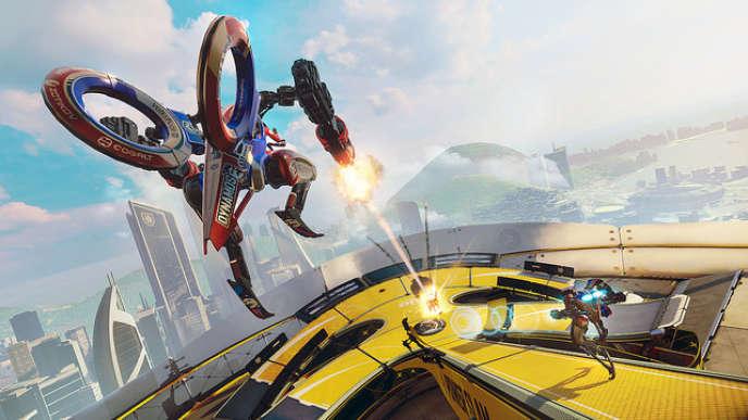 RIGS, l'un des jeux orientés e-sport à la sortie du PS VR, en octobre 2016. Son studio a mis la clé sous la porte trois mois plus tard.