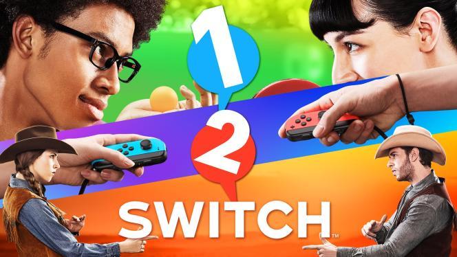 1, 2, Switch, jeu présentant les fonctionnalités originales des manettes de la Switch.