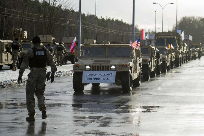 Des soldats américains sont arrivés jeudi 12 janvier en Pologne dans le cadre de l'opération« Atlantic Resolve».