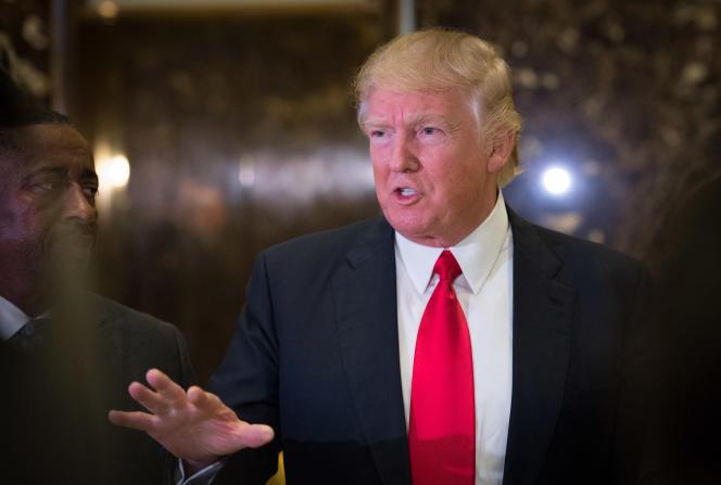 Donald Trump à la Trump Tower, vendredi 13 janvier.