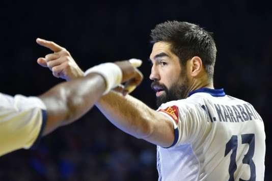 Le joueur de handball Nikola Karabatic lors d'un championnat à Nantes, le 13 janvier 2017.